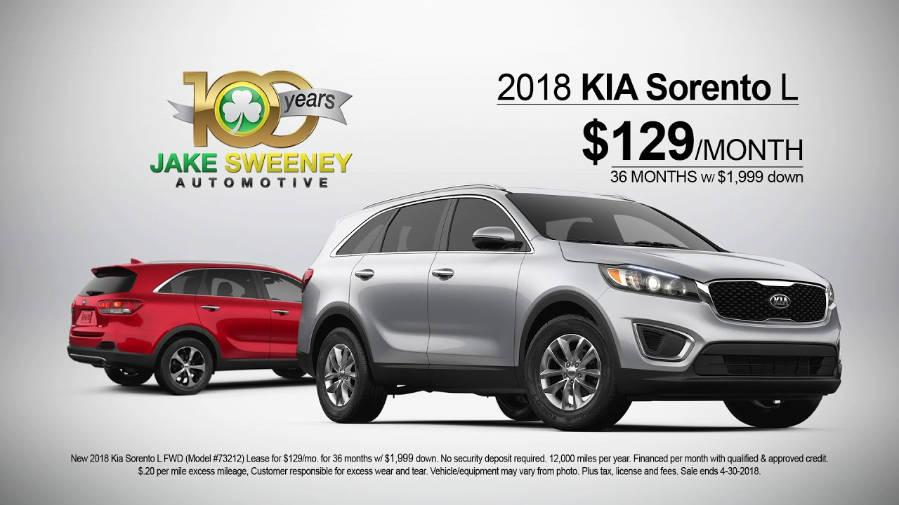 Lease A 2018 Kia Sorento For Just 129 A Month Florence Kentucky