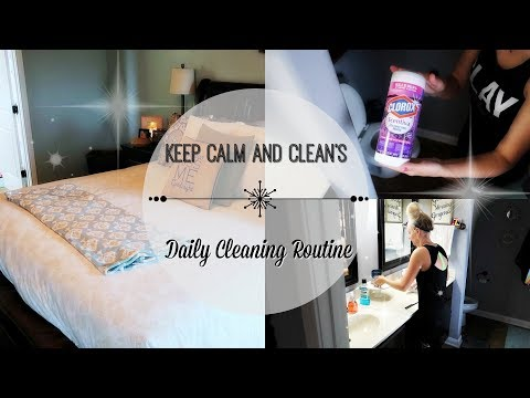 My Daily Cleaning Routine- Cleaning Checklist- Motivation to GET ER DONE!