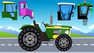 Street Vehicles Mini with wrong Cabin | formation and how uses | Tractor-Excavator | Bajki