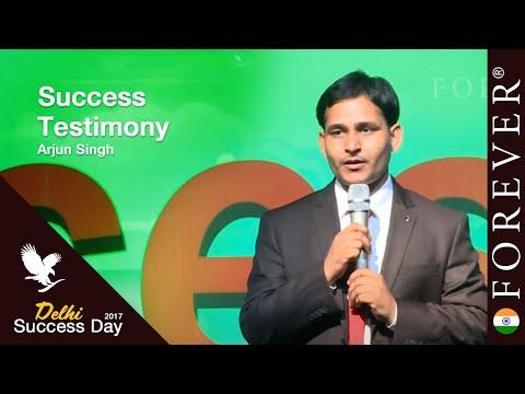 Business Testimony by Arjun Singh at Delhi Success Day