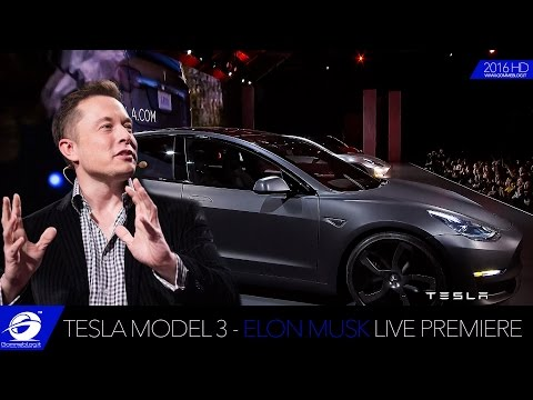 Tesla Model 3 | LIVE PREMIERE by ELON MUSK Technology Electric Car