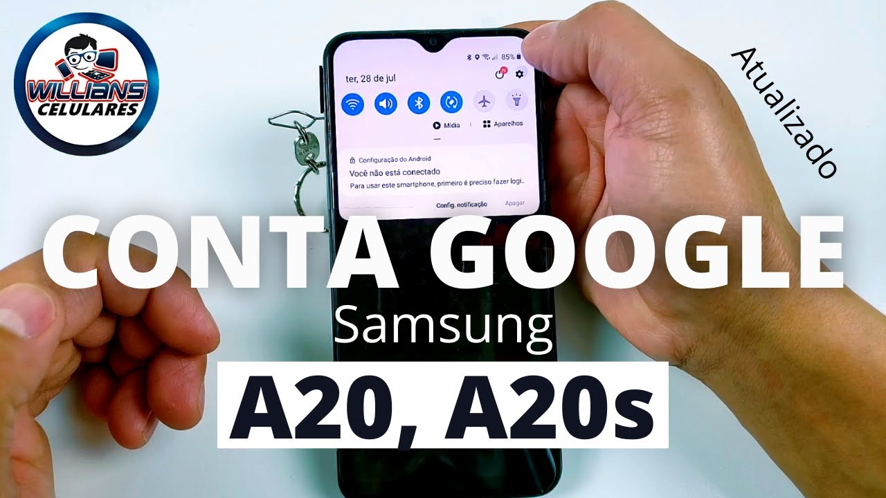 Conta Google Samsung A20, A20s Android 10 Patch de Segurança  Atualizado
