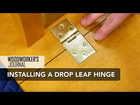 How to Install Drop Leaf Table Hinges | Woodworking