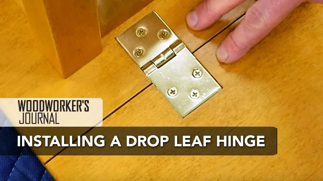 Superbe How To Install Drop Leaf Table Hinges | Woodworking