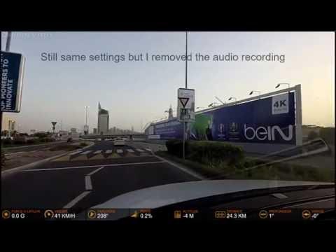 Garmin Virb XE Test Dashcam In Dubai With G-Metrix Data