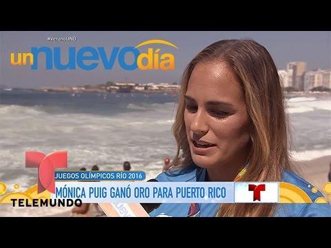 """Mónica Puig habló de su oro """"para todo Puerto Rico""""   Un Nuevo Día   Telemundo"""