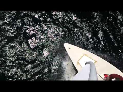 laser sailing on lake naomi, mast view