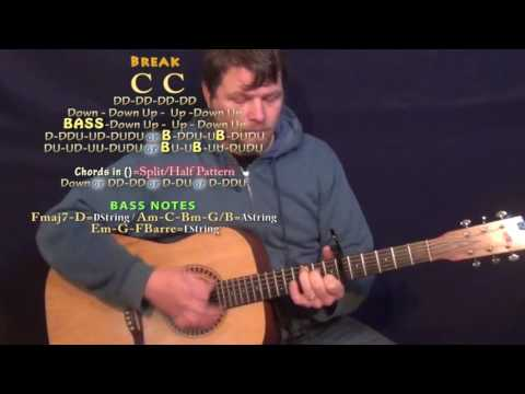 Sober Saturday Night (Chris Young) Guitar Lesson Chord Chart - Capo 6th