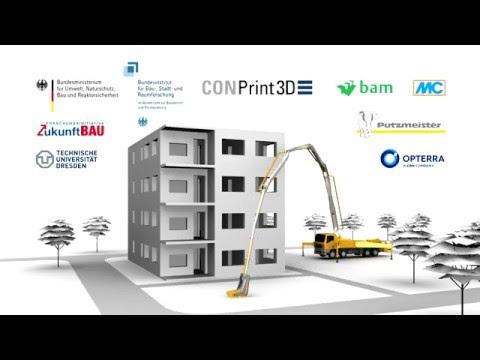 CONPrint3D: 3D-Druck mit Beton