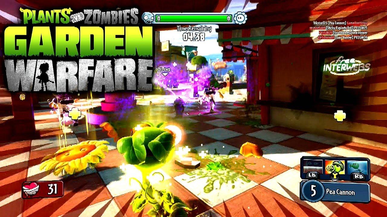 Plants Vs Zombies Garden Warfare Multiplayer  Gardens Graveyards Gameplay Xbox One Youtube