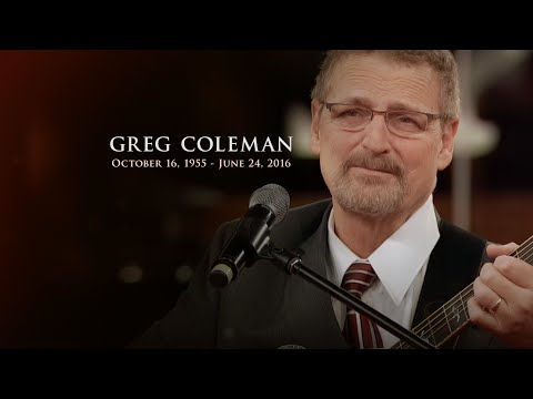 Greg Coleman Tribute Youtube