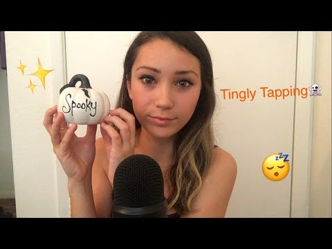 ASMR Tapping on Halloween Decorations