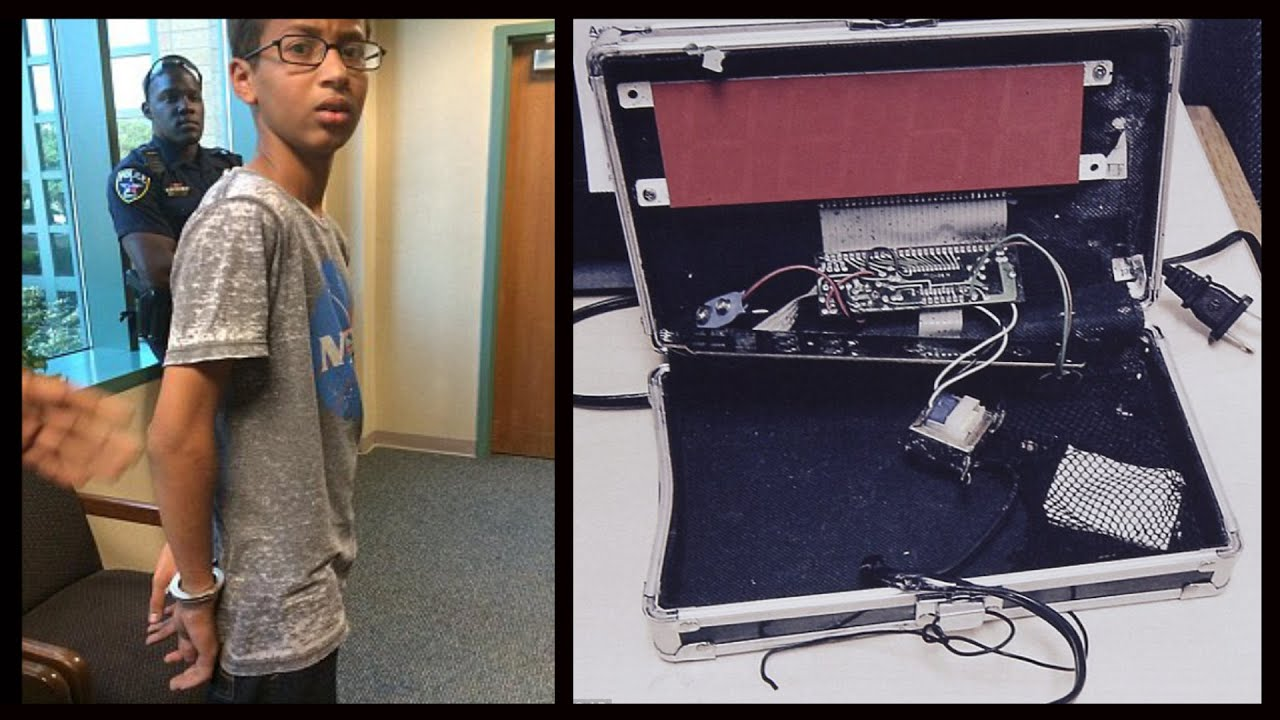 Muslim kid arrested for his invention a suitcase clock youtube gumiabroncs Choice Image