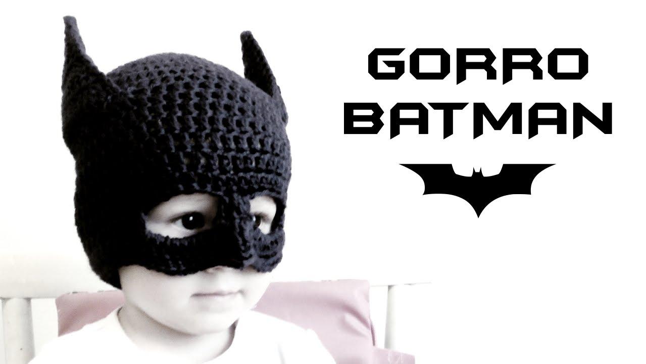 Gorro de BATMAN a Crochet (todas las tallas)  0d33a3ce13e