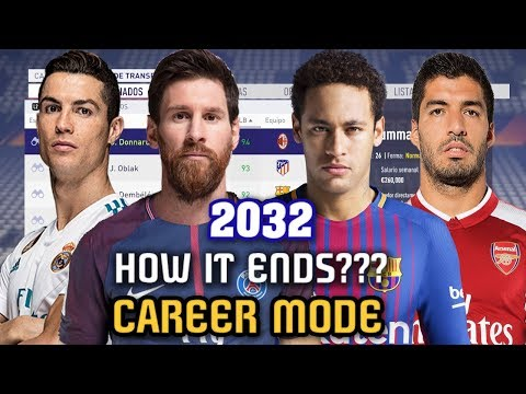 THE END OF CAREER MODE 2032 - FIFA 18 (All Best Players and Regens)