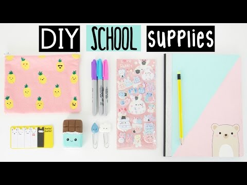 DIY SCHOOL SUPPLIES For Back To School!