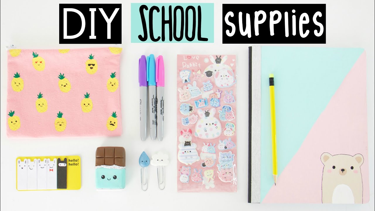 Diy Calendar Nim C : Diy school supplies for back to youtube