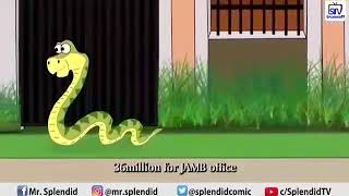 Money swallowing snake in jamb office