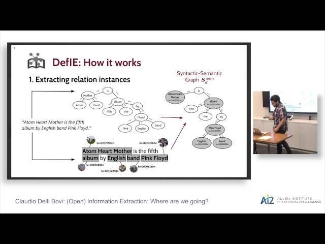 Claudio Delli Bovi: Open Information Extraction: Where Are We Going?