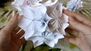 объемные шары из бумажных цветов