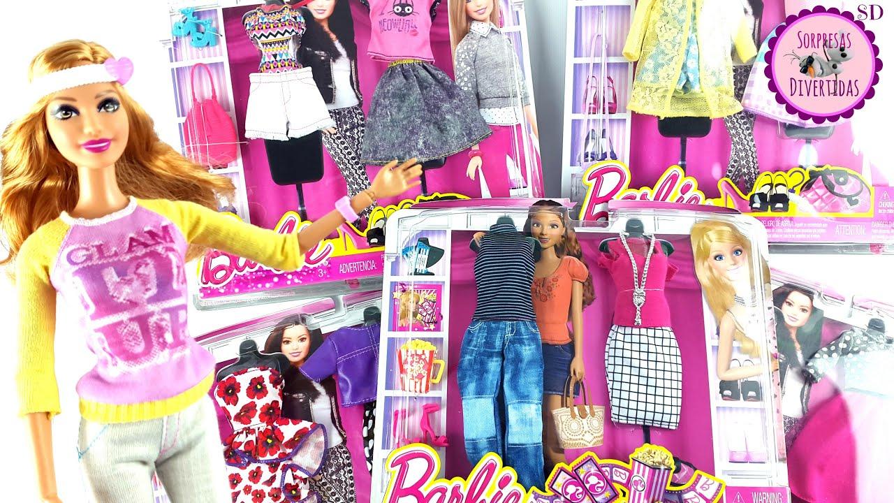 10 Vestidos Y Complementos De Barbie Juego De Vestir Muñecas