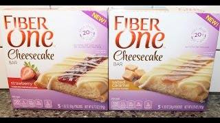 Fiber One Cheesecake Bar: Strawberry & Salted Caramel Review