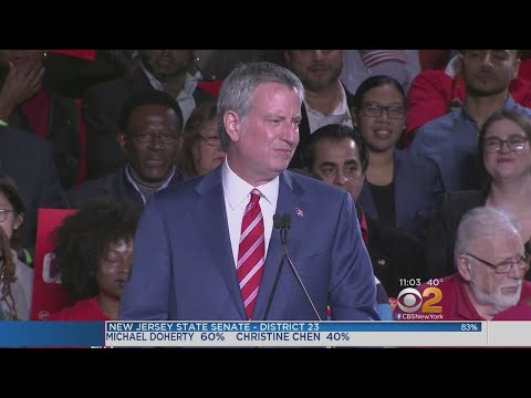 Mayor Bill De Blasio Cruises To Re-Election