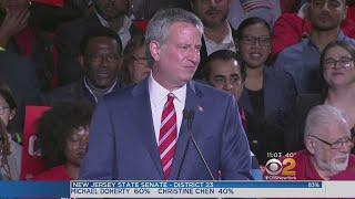 Mayor Bill De Blasio Cruises To Re-Election