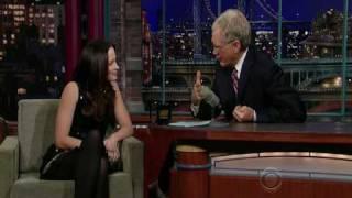 Emily Blunt on David Letterman 11-19-09
