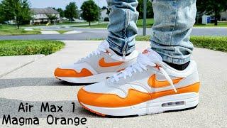 Air Max 1 Magma Orange 2020 Unboxing & On Feet - YouTube