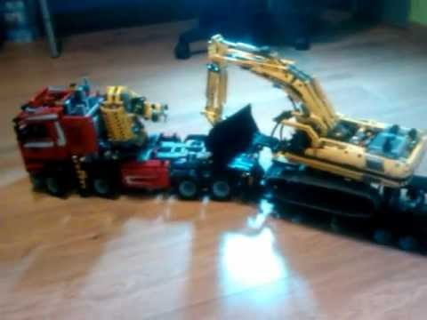 lego technic 8258 remorque porte engins youtube. Black Bedroom Furniture Sets. Home Design Ideas