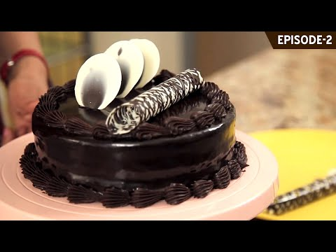 How To Make A Quick And Easy Eggless Double Truffle Cake Layered With Truffle & Praline Nuts