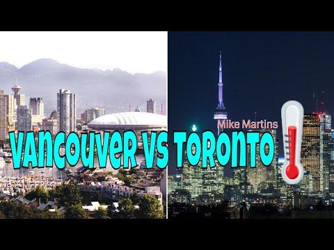 Vancouver weather vs toronto