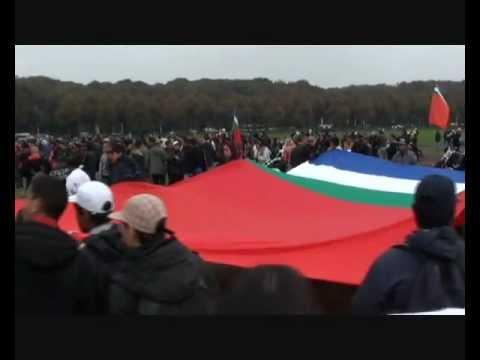Big Moluccan Flag On Moluccan Manifestation In Den-Haag 07/10/2010 (Holland Europe)
