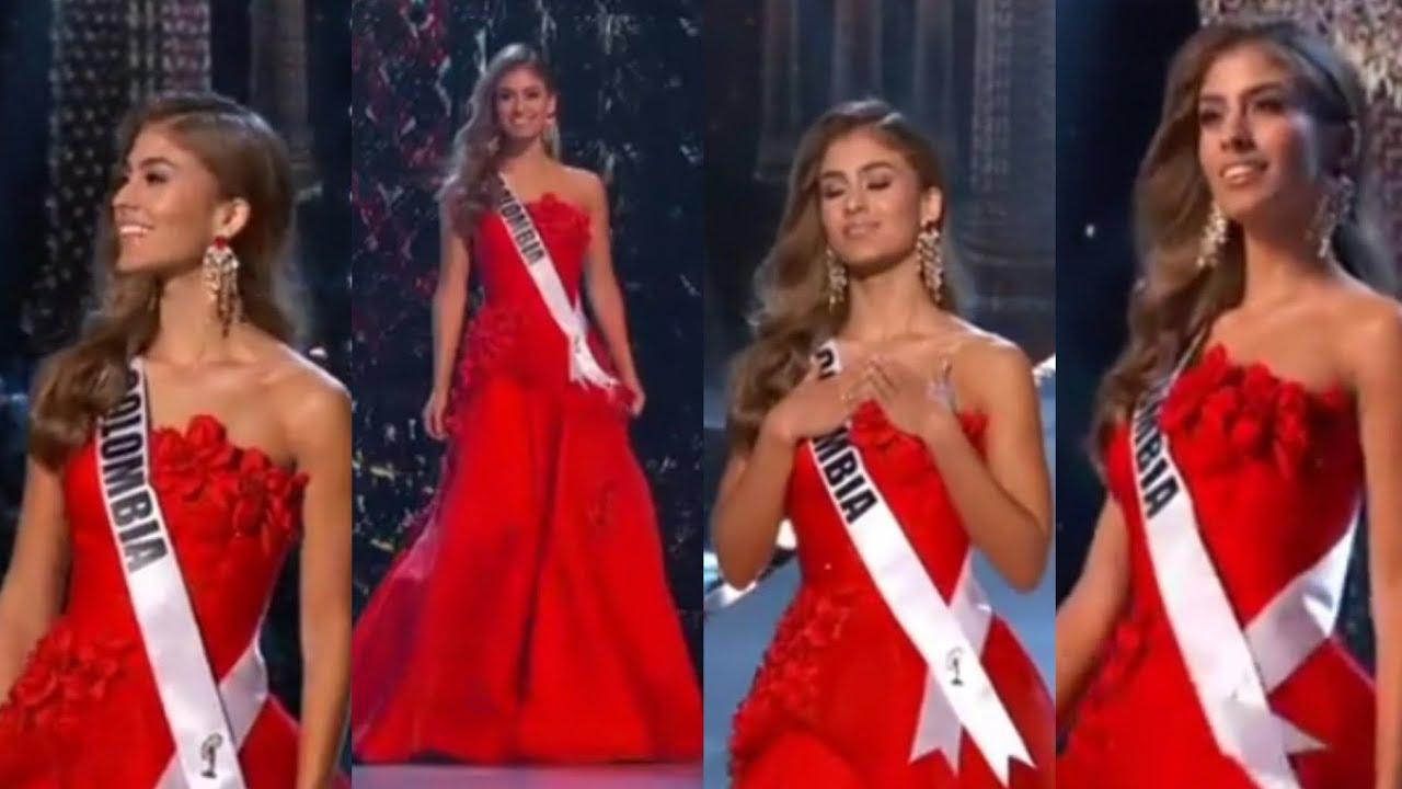 c327fcbfe ¿Mejor vestido  Miss Colombia Vestido de gala PRELIMINAR Miss Universo 2018  Valeria Morales