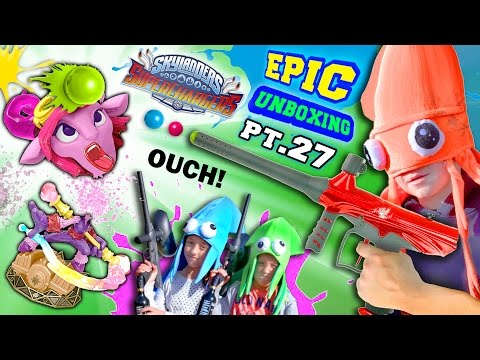 PAINTBALL TIME!  Balls Tear Apart Toys & Skin! SPLAT! (Superchargers Epic Splatoon Unboxing pt. 27)