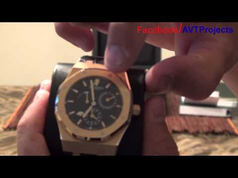 Audemars Piguet Dual Time Royal Oak 18kt Rosegold