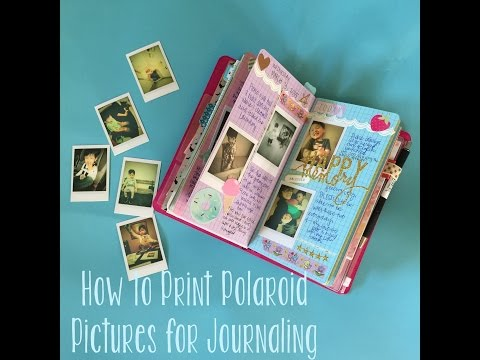 DIY Instax/Polaroid Pictures on an iPhone + Journaling in a Midori Traveler's Notebook