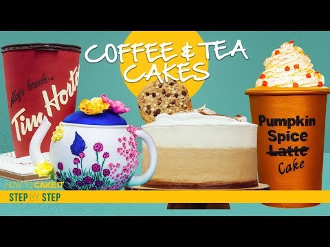4 Mind-Blowing Hot Drink Cakes | COFFEE & TEA CAKES COMPILATION | How To Cake It | Yolanda Gampp