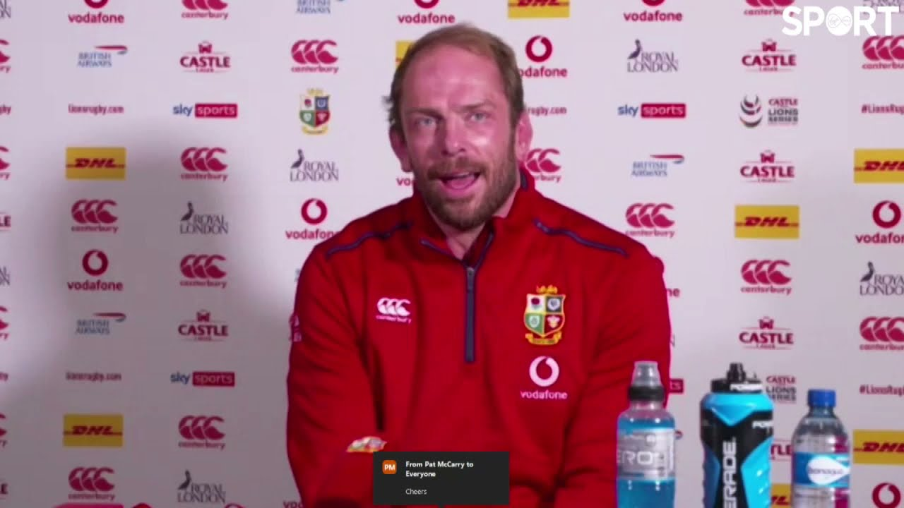 South Africa 17-22 The Lions | Alun Wyn Jones post-match press conference.