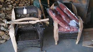 New wicker rocking chairs