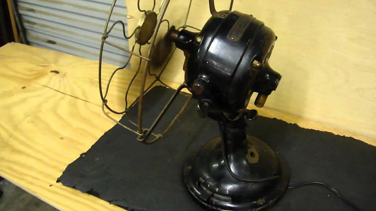 Ge big motor yolk fan antique general electric fan youtube for General electric fan motor