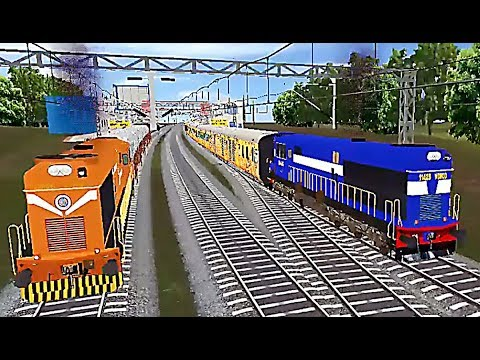 Indian Train Simulator - Custom - Pune to Bharuch (WDM 3D - Tejas)