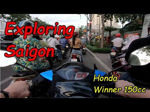 Exploring Saigon By Motorbike - Honda Winner 150cc