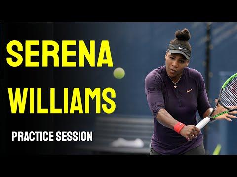 Serena William practice session