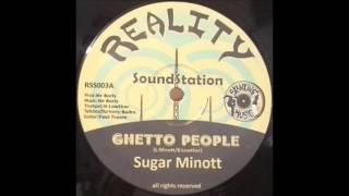 SUGAR MINOTT/GHETTO PEOPLE/MR BORIS/GHETTO BASS DUB/REALITY SOUND STATION 12''