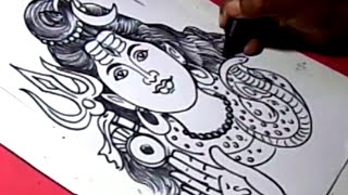 How to Draw LORD SHANKARA DRAWING step by step for kids