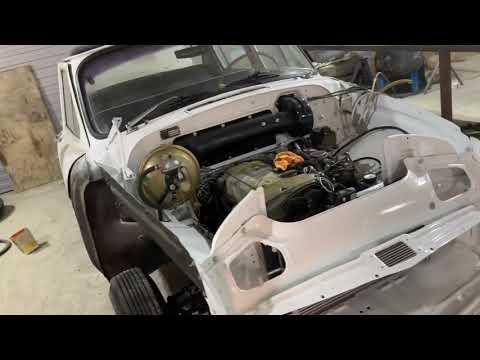 Газ21 с двигателем Mercedes. RetroWorkRoom.