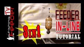 Ін-Лайн оснастка для фідера 3в1 з різними стопорами(Feeder Fishing TV) in-line 3in1