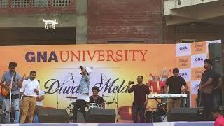 Akhil live singing Zindagi song At GNA UNIVERSITY